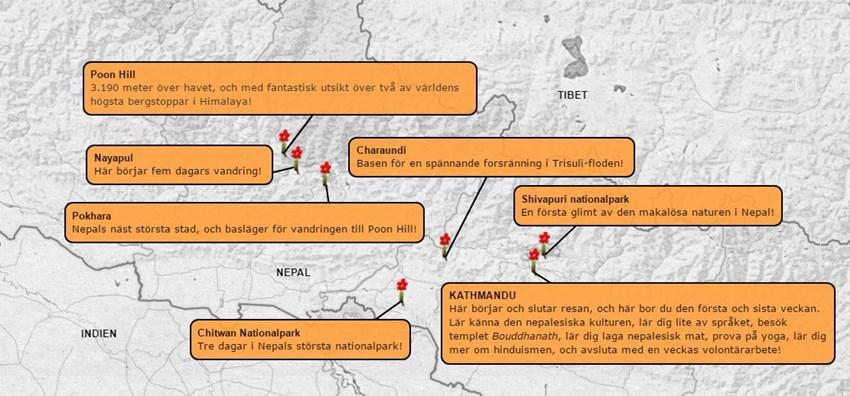 Äventyrsresa-Nepal-4v-karta