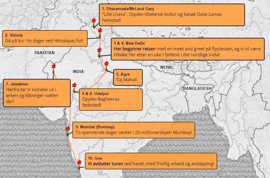 Eventyrreise-India-karte