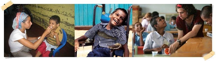 frivillig arbeid Sri lanka hjelpe funksjonshemmede barn