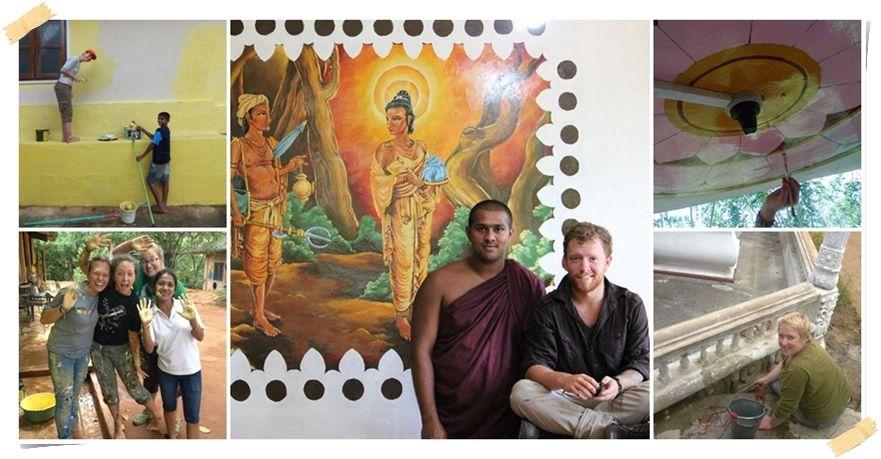 renovera tempel sri lanka volontär