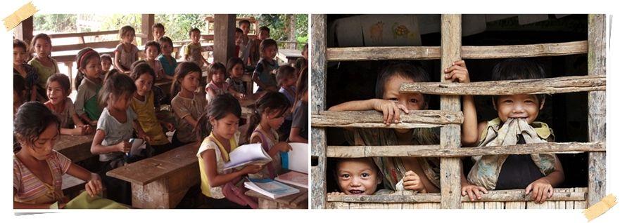 volontärer undervisning hilltribe norra thailand