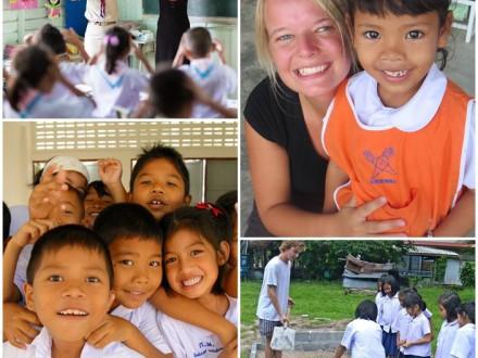 Volontärer på skola i Thailand