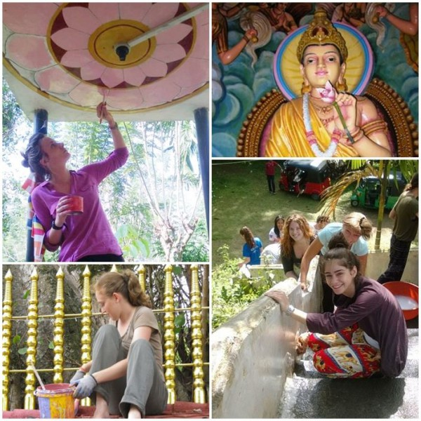 Volontärresa buddhisttempel Sri Lanka