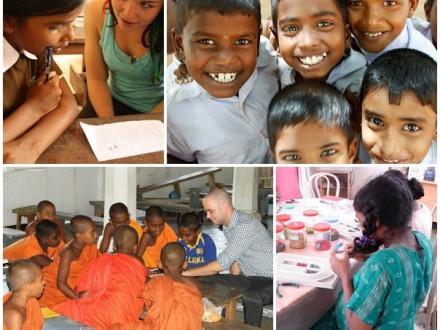 Volontärundervisning på skola på Sri Lanka