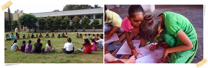 volontararbete-flickor-indien