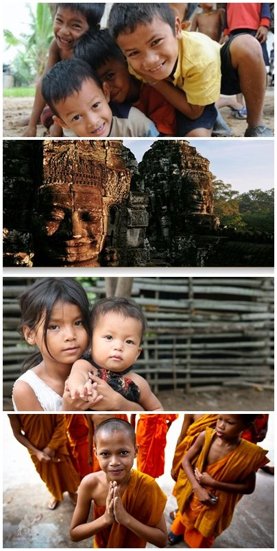 Bilder från volontärresor till Kambodja