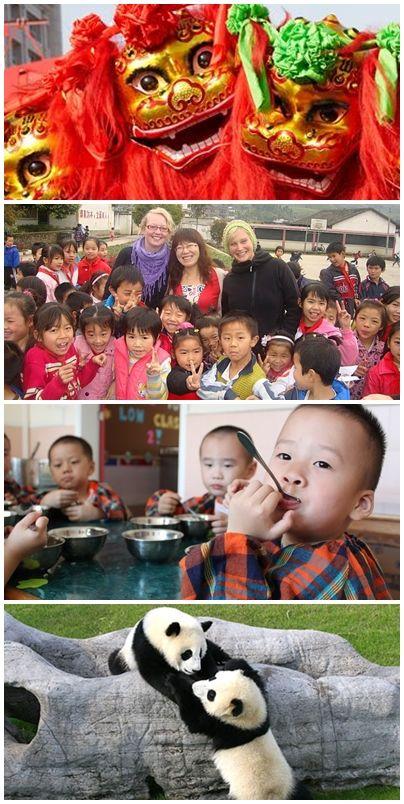 Bilder från volontärresor till Kina