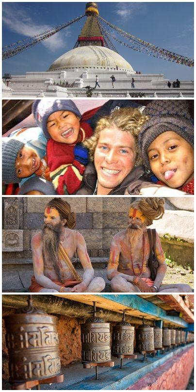 Bilder från volontärrresor till Nepal