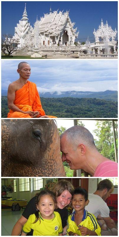 Bilder från volontärresor till Thailand