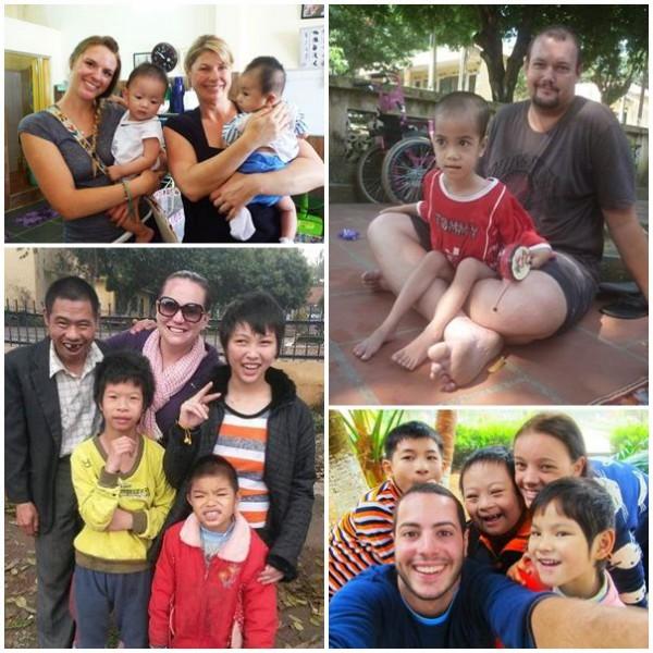 Volontärer på barnhem i Vietnam