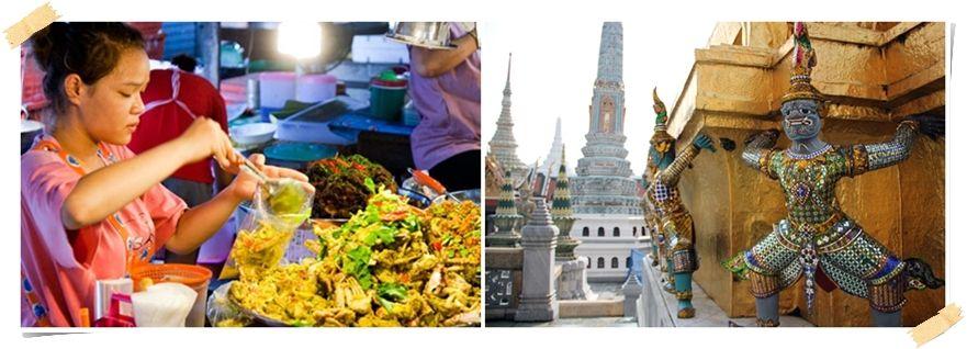 tempel och mat i bangkok för volontärer