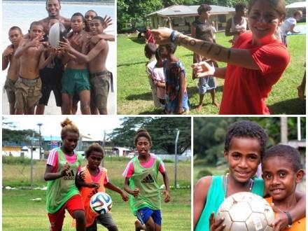 Volontärer som sportcoach på Fiji