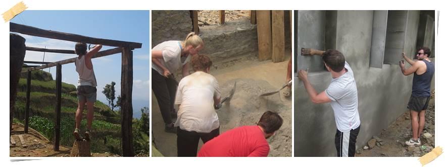 volontärarbeta-i-nepal-jordbävning-bygg