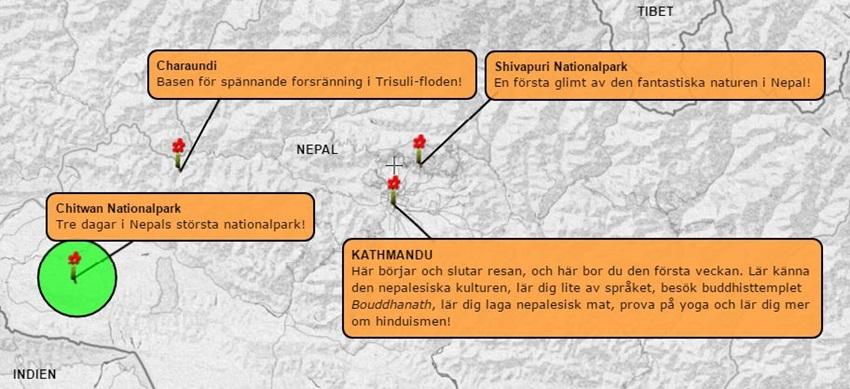 Äventyrsvecka-Nepal-Chitwan-karta