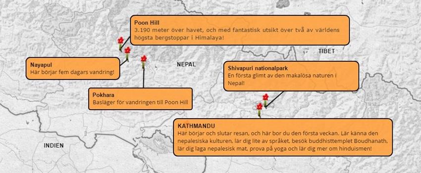 Äventyrsvecka-Nepal-Poon-Hill-karta