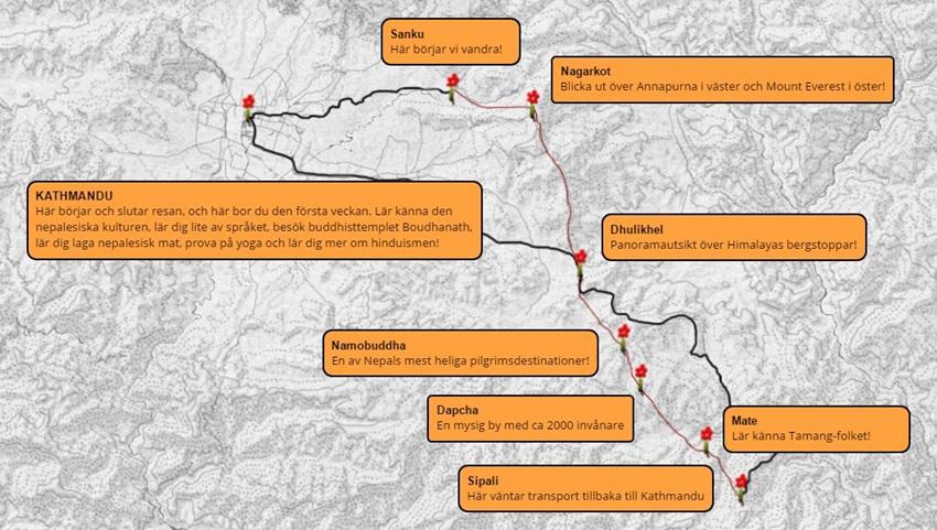 Trekking-Nepal-karta