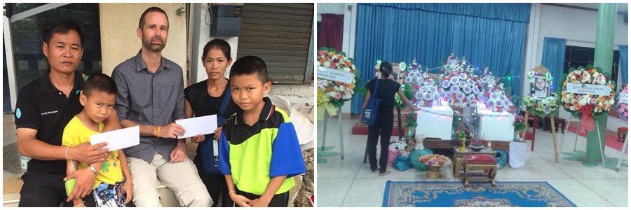 Donation till flickorna i Bangkok som drunknade