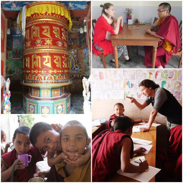 volontärarbete-nepal-kloster-buddhist-munkar-tempel
