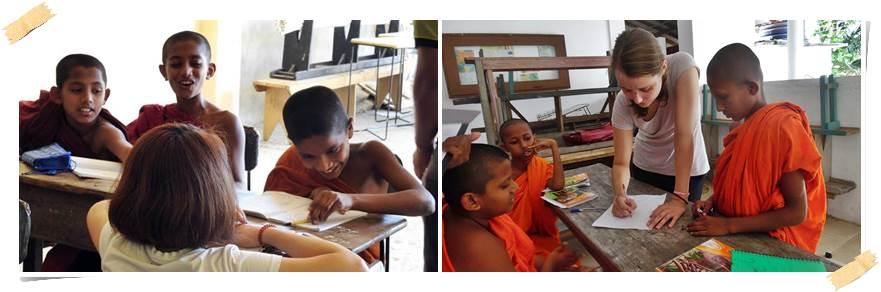 volontär-undervisa-munkar-srilanka