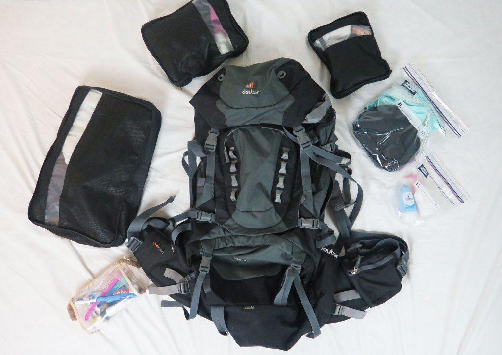 Ryggsäck och packning, inför resan